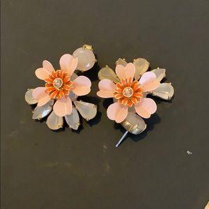 J. Crew Flower Gem Earrings